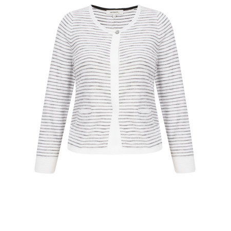 Sandwich Clothing Striped Pattern Cardigan - White
