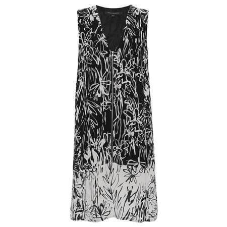 French Connection Copley Crepe Sleeveless VNK Tunic - Black