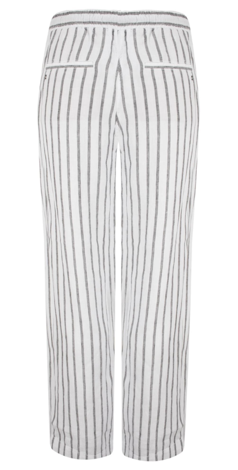 Linen Stripe Casual Trouser main image