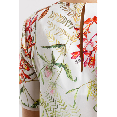 French Connection Bluhm Botero Crepe Light Tunic - White