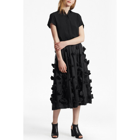 French Connection Agnes Floral Maxi Skirt - Black