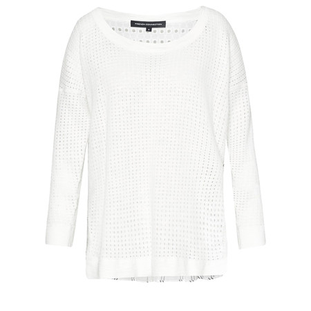 French Connection Max Mix Knits Long Sleeve RDNK Jumper - White