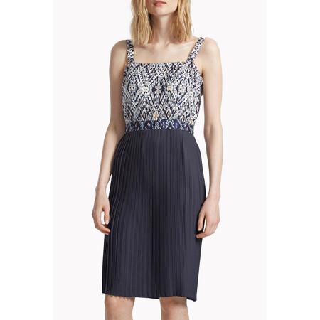 Great Plains Diamond Daze Pleated Hem Dress - Blue