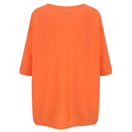 Ochre Home Oversized Cotton Jumper - Orange