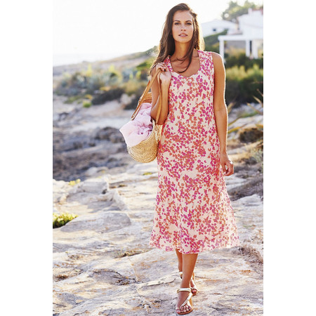 Adini Orchid Print Orchid Dress - Pink