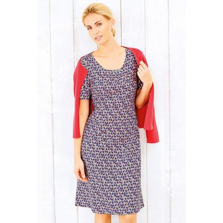 Adini Costal Print Wave Dress - Blue
