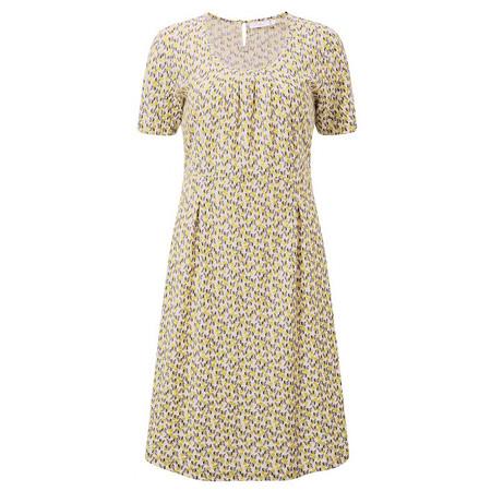 Adini Costal Print Wave Dress - Yellow