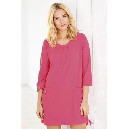 Adini Solid Slub Elle Tunic - Pink