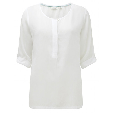 Adini Solid Modal Rayon Louise Blouse - Off-white