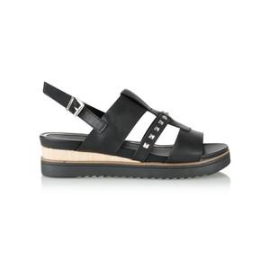 Marco Tozzi Flatform Imit Leather Stud Sandal