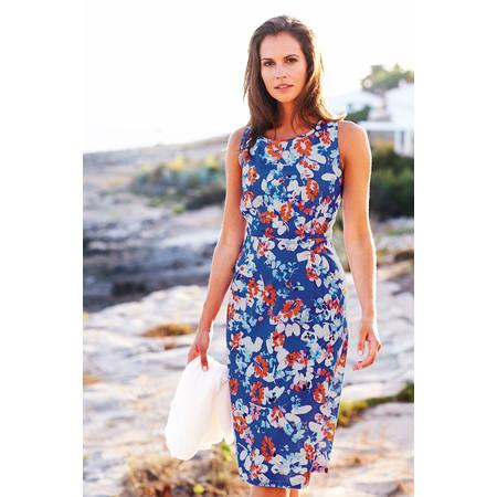 Adini Florida Print Belleair Dress - Blue