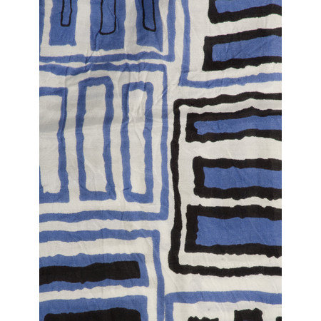 Masai Clothing Graphic Print Along Scarf - Blue