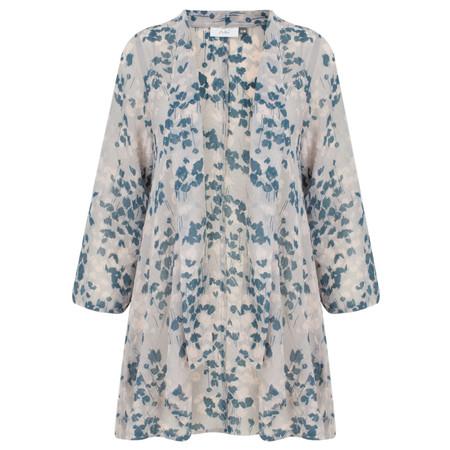 Adini Orchid Print Wild Kimono - Blue