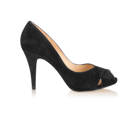 Unisa Shoes Taner Peep Toe Court Shoe - Black