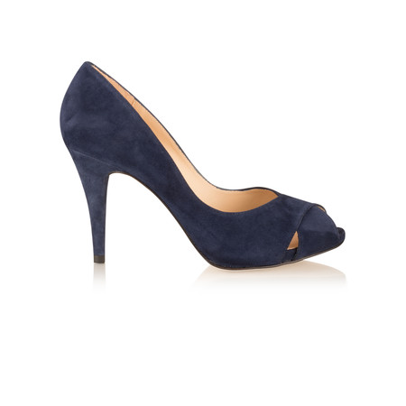 Unisa Shoes Taner Peep Toe Court Shoe - Blue