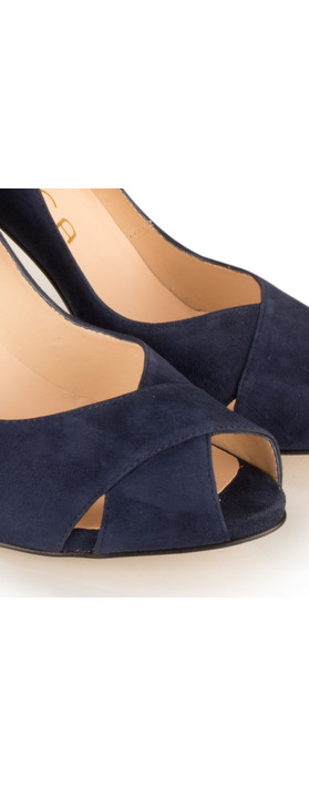 Unisa Shoes Taner Peep Toe Court Shoe Ocean Navy