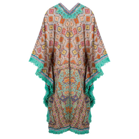 Lara Ethnics Patrizia Kaftan with Fringes - Multicoloured