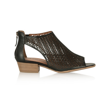 Tamaris  Cloud Leather Sandal Shoe - Black