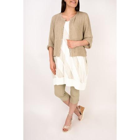 Grizas Linen Panelled Tunic Dress - White