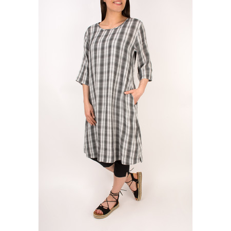 Masai Clothing Nani Gingham Dress - Black
