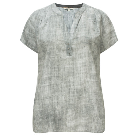 Sandwich Clothing Texture Pattern Blouse - Grey