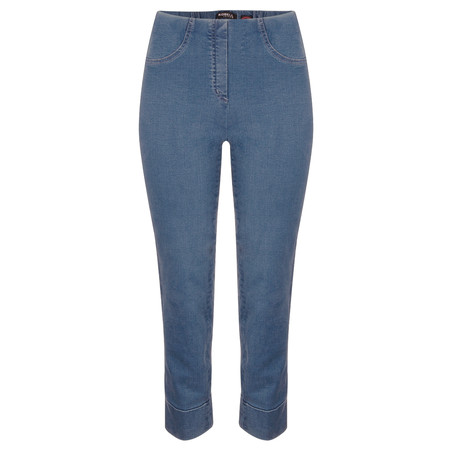 Robell Trousers Bella 09 Jean 7/8 Length with Cuff - Blue