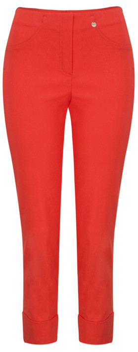 Robell Trousers Bella 7/8 Cropped Trouser  Red