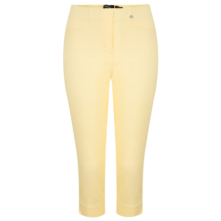 Robell Trousers Rose 07 Slimfit Cropped Trouser - Yellow