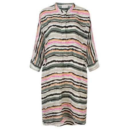 Masai Clothing Neo Striped Dress - Green