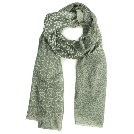 Masai Clothing Floral Amix Scarf - Green