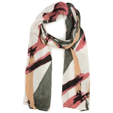 Masai Clothing Abstract Print Along Scarf - Pink