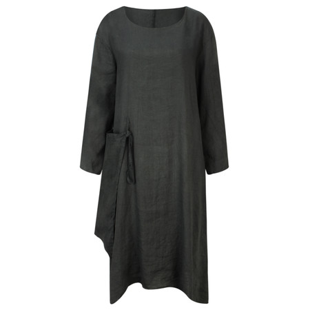 Arka Maria Linen Tunic Dress - Black