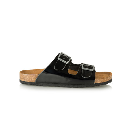 Tamaris  Birki Double Strap Sandal - Black