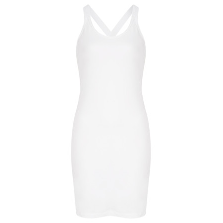 Sandwich Clothing X Over Strap Tunic Dress - White