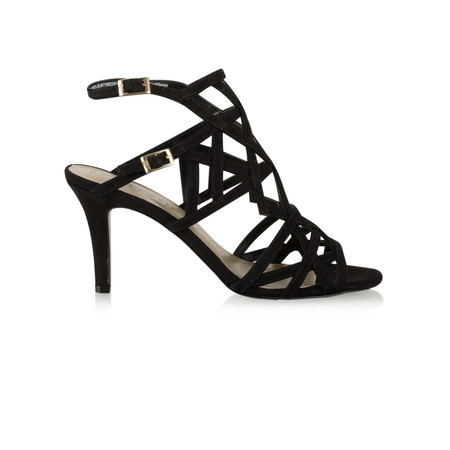 Tamaris   Strappy High Heel Sandal - Black