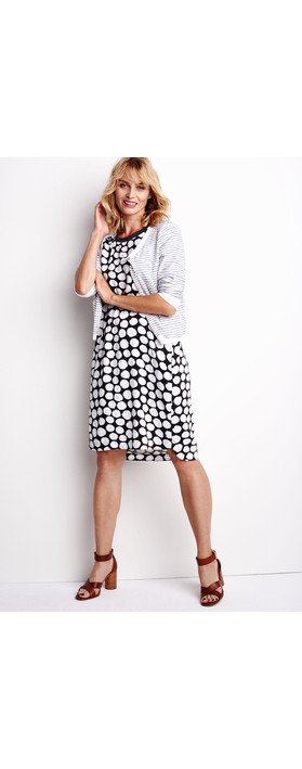 Sandwich Clothing Painted Dot Print Dress Pure White