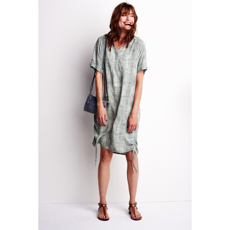 Sandwich Clothing Texture Pattern Dress - Grey