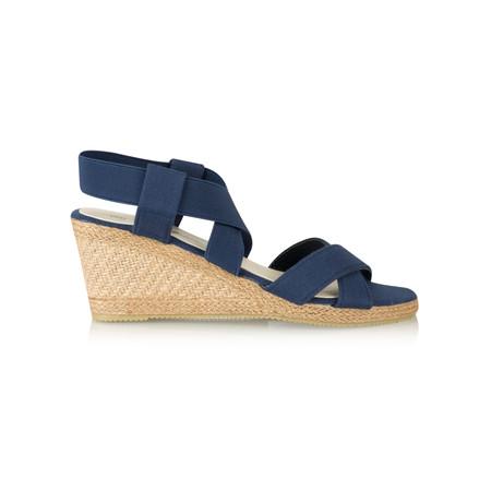 Livshu Ginny Wedge Espadrille Sandal - Blue