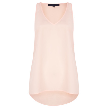 French Connection Sania Plains Sleeveless V Neck Top - Pink