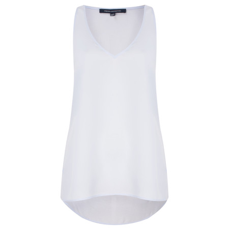 French Connection Sania Plains Sleeveless V Neck Top - Blue