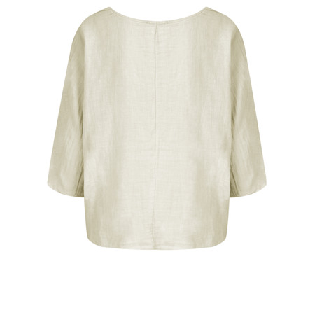 TOC  Billie Linen East Fit Top - Beige