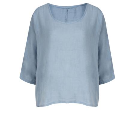 TOC  Billie Linen East Fit Top - Blue