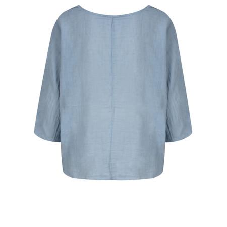 TOC  Billie Linen Easy Fit Top - Blue