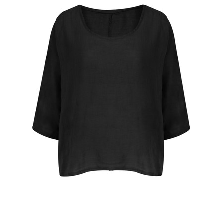 TOC  Billie Linen Easy Fit Top - Black