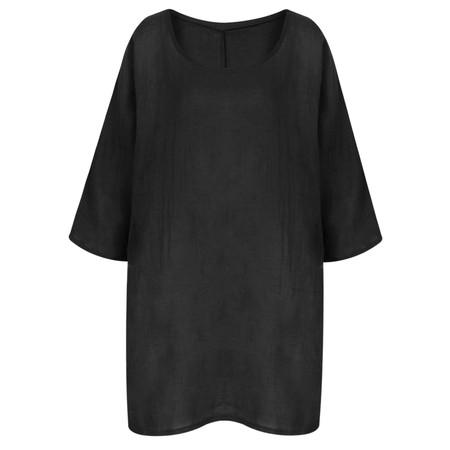 TOC  Bellaby Fine Linen longline T- top - Black