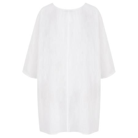 TOC  Bellaby Fine Linen longline T- top - White