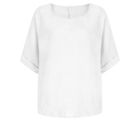TOC  Bettina Linen  Top - White