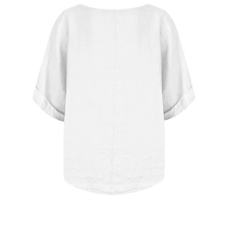 TOC  Bettina Linen  Top - White