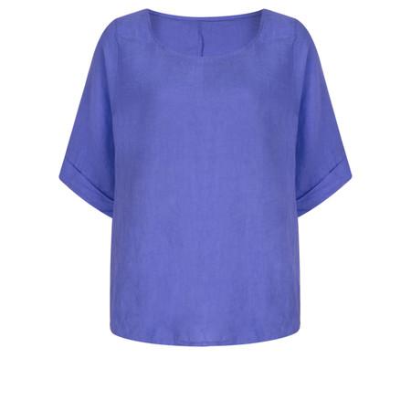 TOC  Bettina Linen  Top - Blue