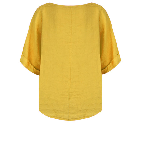 TOC  Bettina Linen  Top - Yellow